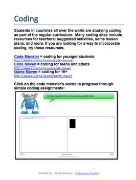 CODING ACTIVITIES & GAMES: Grades K-Adult
