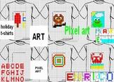 CODING , PIXEL ART  holiday t-shirts