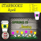 COFFEE THEMED April Spring Easter BULLETIN BOARDS STARBOOKS