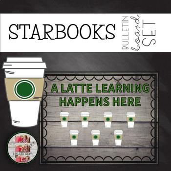 COFFEE THEMED BULLETIN BOARD A Latte Learning Happens Here STARBUCKS STARBOOKS