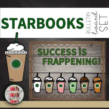 COFFEE THEMED BULLETIN BOARD Success is Frappening STARBUCKS STARBOOKS