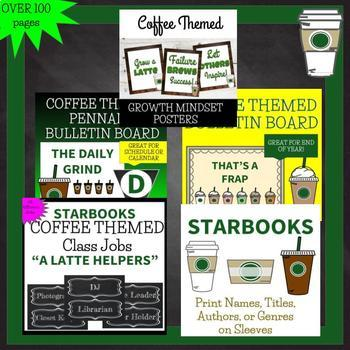Starbooks COFFEE THEMED EPIC BUNDLE Bulletin Boards Decorations Activities ...
