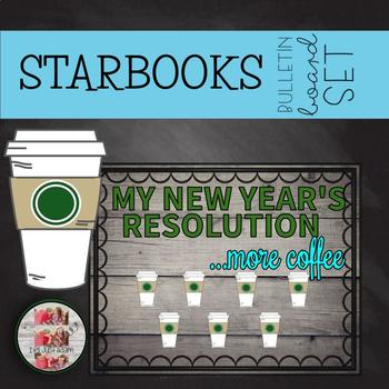 coffee themed holidays january winter new years bulletin board starbooks