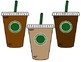 """COFFEE THEMED Pennant BULLETIN BOARD """"The Daily Grind"""" Starbucks Starbooks"""