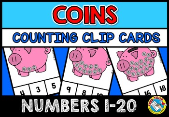 COINS COUNTING CENTER: COUNTING COINS CLIP CARDS: NUMBERS