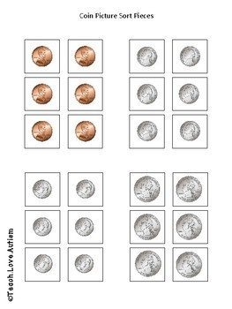 COINS ONLY - Money Work Tasks or File Folders
