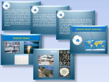 Arctic and Antarctic - Animals - Plants - Interactive PowerPoint presentation