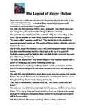 COLD READ 5 -The Legend of Sleepy Hollow Reading Passage with Assessment