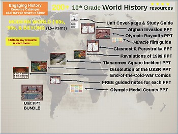 COLD WAR MEGA BUNDLE: 100 engaging resources; PPTs, activities, documents & more
