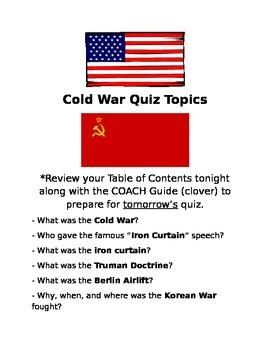 COLD WAR QUIZ
