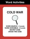 COLD WAR - Word Search, Word Scramble,  Secret Code,  Crac