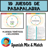 COLECCIÓN DE 19 JUEGOS TEMÁTICOS DE PASAPALABRA + SOLUCION