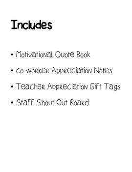 COLLEAGUE/CO-WORKER/TEACHER APPRECIATION BUNDLE