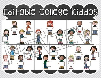 COLLEGE Bound Kiddos - Editable Classroom Display & COLLEGE Notebook Covers