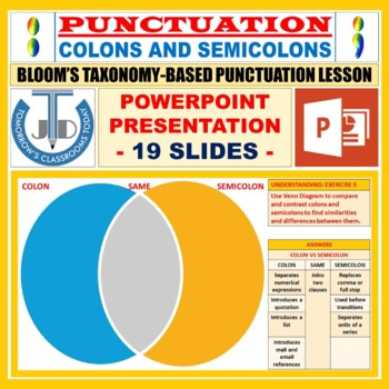COLON AND SEMICOLON LESSON PRESENTATION
