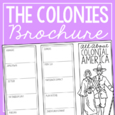COLONIAL AMERICA Research Brochure Template, American Hist