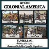 COLONIAL AMERICAN LIFE, BUNDLE #1 - Reading Comprehension, Activities, Bingo