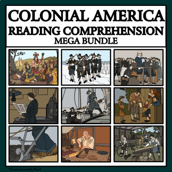 COLONIAL AMERICAN CAREERS- READING COMPREHENSION BUNDLE
