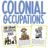 COLONIAL AMERICA JOBS POSTERS   Coloring Book Pages   American History Project