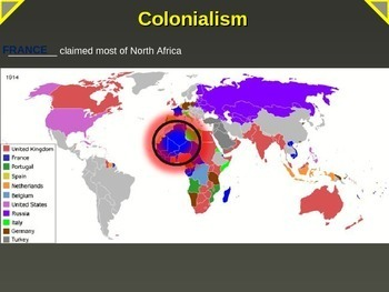 IMPERIALISM, COLONIALISM, NATIONALISM -COLONIAL MAP ACTIVITY PART 9 of EPIC UNIT