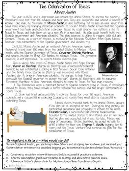 COLONIZATION OF TEXAS BUNDLE