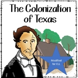 COLONIZATION OF TEXAS Reading and Discussion Activity MODIFIED FOR ELL