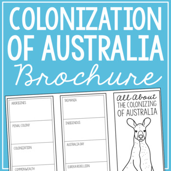 THE COLONIZING OF AUSTRALIA Research Brochure Template, World History Project