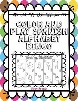 COLOR AND PLAY SPANISH ALPHABET BINGO!