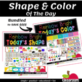 COLOR AND SHAPE  OF THE DAY CLASSROOM CENTER5 - BUNDLE