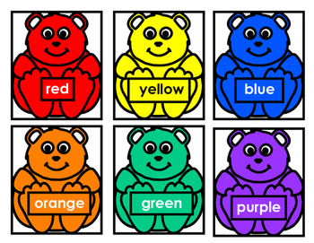 COLOR BEAR SONG SMALL FOR STUDENTS