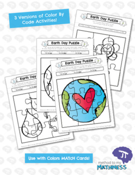 COLOR BY CODE Earth Day Activity & Puzzle