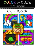 COLOR BY CODE--St. Patrick's Day-- Sight Words