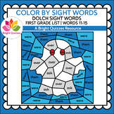 COLOR BY DOLCH SIGHT WORDS | FIRST GRADE LIST | WORDS 11-1