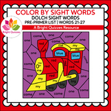COLOR BY DOLCH SIGHT WORDS | PRE-PRIMER LEVEL | WORDS 21-2