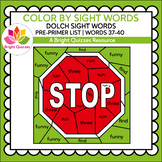 COLOR BY DOLCH SIGHT WORDS | PRE-PRIMER LEVEL | WORDS 37-4