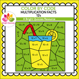 COLOR BY MULTIPLICATION FACTS | 12s | LEMONADE