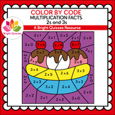 COLOR BY MULTIPLICATION FACTS | 2s AND 3s | BANANA SPLIT