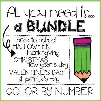 COLOR BY NUMBER HOLIDAY BUNDLE