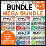 COLOR BY NUMBER MEGA BUNDLE Holiday Themed