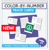 COLOR BY NUMBER Kindness Cards