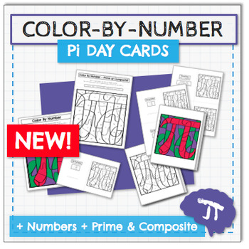 COLOR BY NUMBER Pi Day Card & Activity