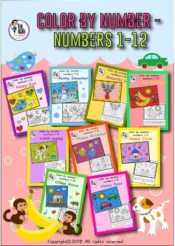COLOR BY NUMBER - UP TO 12