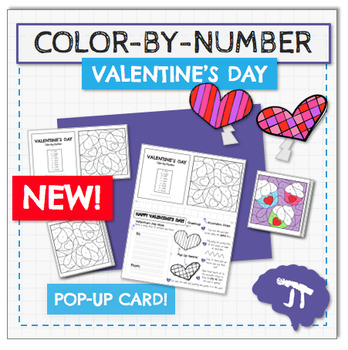 COLOR BY NUMBER Valentine's Day POPUP Card