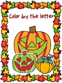 FALL COLOR BY THE LETTER