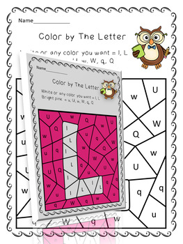 COLOR BY THE LETTER AND MASTERY THE ALPHABET - 26 ALPHABET PUZZLE