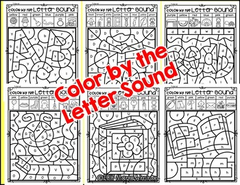 COLOR BY THE LETTER SOUND- Includes Interactive Slide Show