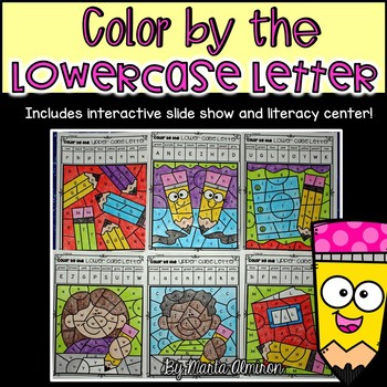 COLOR BY THE LOWERCASE AND UPPERCASE LETTER {Includes Digital Resource}