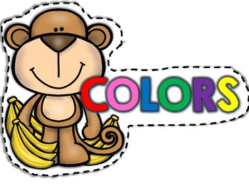 COLOR CARDS~ MONKEY THEME