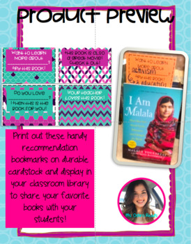 COLOR CLASSROOM LIBRARY BOOKMARK RECOMMENDATIONS