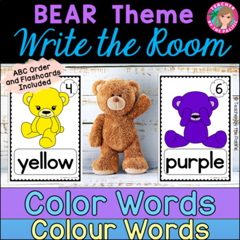 COLOR {COLOUR} WORDS - Write the Room {TEDDY BEARS}